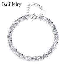 BaliJelry moda srebro 925 bransoletka doskonałe akcesoria do biżuterii dla kobiet ślub przyjęcie zaręczynowe ozdoby hurtowych bransoletek