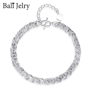 BaliJelry Fashion Silver 925 Bracelet Fine Jewelry Accessories for Women Wedding Engagement Party Ornaments Wholesale Bracelets flyleaf 925 sterling silver bracelets for women cross tube cubic zirconia party simple fashion fine jewelry bracelets