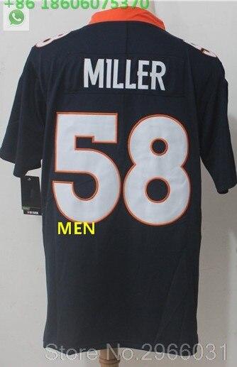 А+++ Качественная мужская футболка для взрослых 58 von miller Terrell Davis 30 Demaryius Thomas 88 Denver - Цвет: For men