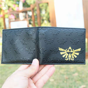 GAME LINK Winged Triforce Logo Coin PU Leather Wallet Purse Bag Holder Layer Cool Hot