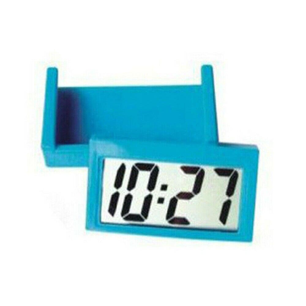 1 Pieces Color Random Digital LCD Car Dashboard Clock Desk Time Bracket Home Office