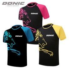 Danic летняя спортивная мужская и женская дышащая футболка с коротким рукавом, одежда для настольного тенниса, одежда для бадминтона