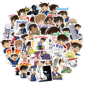 10/30/50/100PCS Anime Detective Conan Graffiti Sticker For Laptop Skateboard Motorcycle Waterproof Sticker Toy Kids Gift image