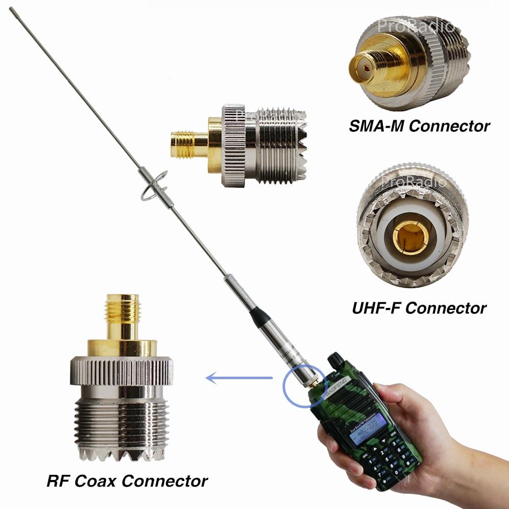 1PCS RF Coaaxial Adapter Connector SMA Female To UHF Female Fine Copper PL259 Converter Coax Connectors #YR01 Na770S Antenna