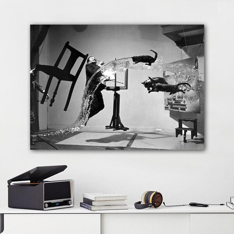 US $5.27 52% di SCONTO|Reliabli Arte Salvador Dali Astratta Ritratto Quadri  su Tela Pittura di Arte Della Parete per Soggiorno Moderno Decorazione ...