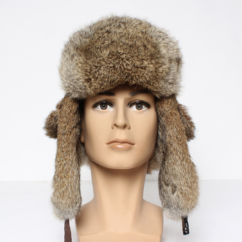 2020 New Luxury Unisex Genuine Rabbit Fur Hats Winter Women Warm Soft Real Rabbit Fur Bomber Cap 100%Natural Rabbit Fur Caps