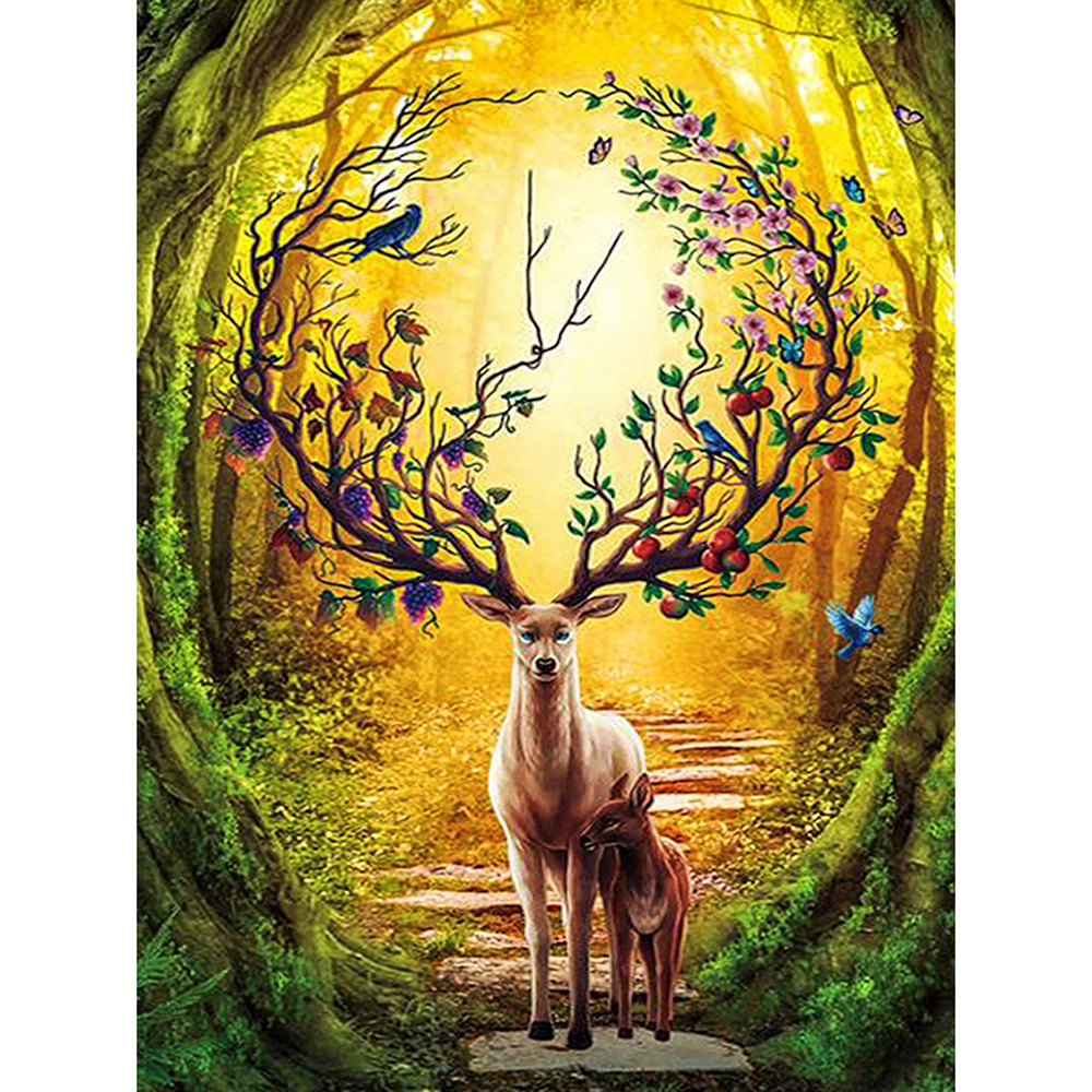 Colorful Deer DIY Oil Painting Paints By Numbers Acrylic Paint Drawing On Canvas Wall HandPainted Home Decor-0