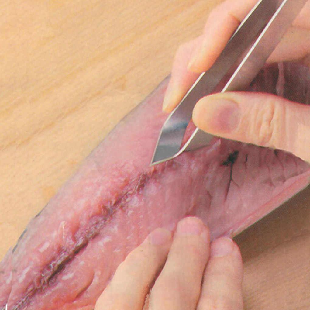 الفولاذ المقاوم للصدأ الأسماك العظام الملقط مزيل كماشة بولير ملقط بيك اب المأكولات البحرية أداة الحرف