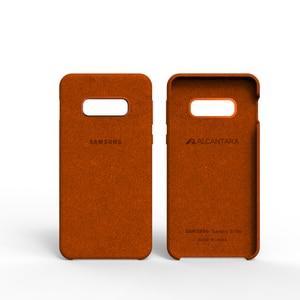 Image 3 - 100% الأصلي الأصلي سامسونج S10E الحال بالنسبة غالاكسي S10Plus S10 + S10E الكانتارا غطاء جلد قسط كامل غطاء وقائي 5 color