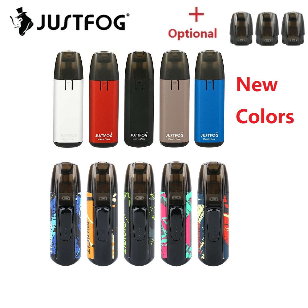 New Colors  JUSTFOG MINIFIT Pod Vape Kit With 370mAh Battery & 1.5ml Cartridge Pod System Vape Pod Kit Vs Renova Zero