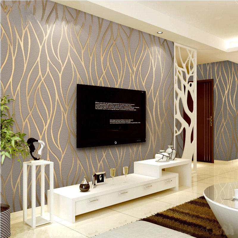 Suede Wallpaper Bedroom Living Room Film And Television Wall Wallpaper Modern Minimalist 3D TV Backdrop Cool Fashion