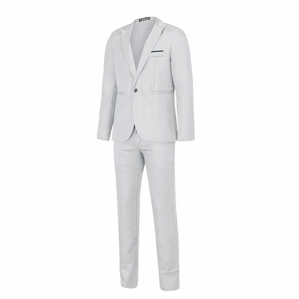 2019 Heren Pakken mannen Business Casual Kleding Stalknecht Twee stuk Pak Blazers Jas Blazer Slim Fit Jasje mannen Wedding