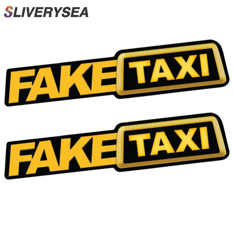 2PCS Car Stickers JDM Drift Race Car FAKE TAXI Funny Sticker Decal X2-in Car Stickers from Automobiles & Motorcycles