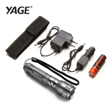 YAGE 332C CREE Waterproof Tactical Led Flashlight with 1*18650 Battery+Car Charger Self Defense Rechargable Torch Lanterna