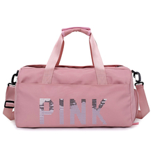 Hot Waterproof Sports Sequins PINK Letters Gym Bags Women Men For The Fitness Training Shoulder Handbags Bag Yoga Mat