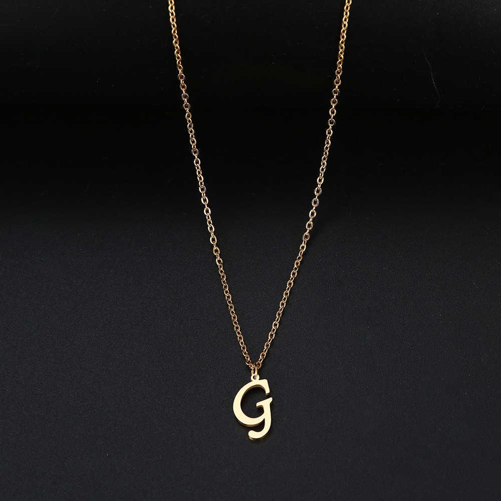 DOTIFIสำหรับผู้หญิงA-Zตัวอักษรตัวอักษรจี้สร้อยคอการกำหนดค่าส่วนบุคคลสร้อยคอสแตนเลสGlamourเครื่องประดับ