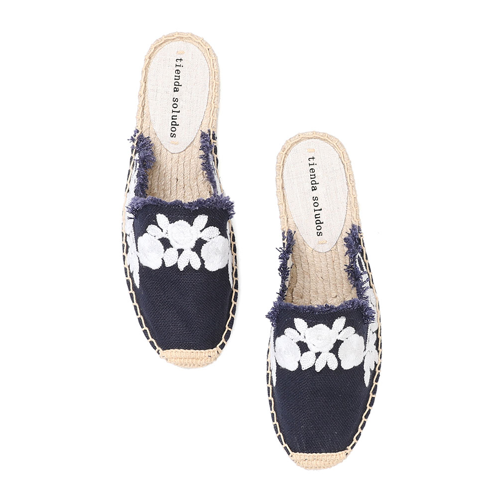 2019 Rushed New Arrival Hemp Summer Rubber Cotton Fabric Unicornio Slippers Tienda Soludos Espadrille Slippers For Flat Shoes