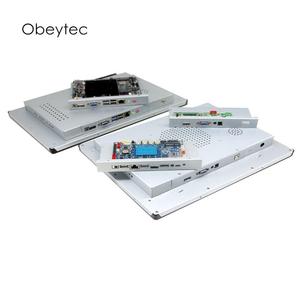 1366*768, ordinateur à écran tactile 18.5 pouces, tactile capacitif, 250cd/m2, avec wifi, intel J1900 4 + 64G, personnaliser OB-TPCI185