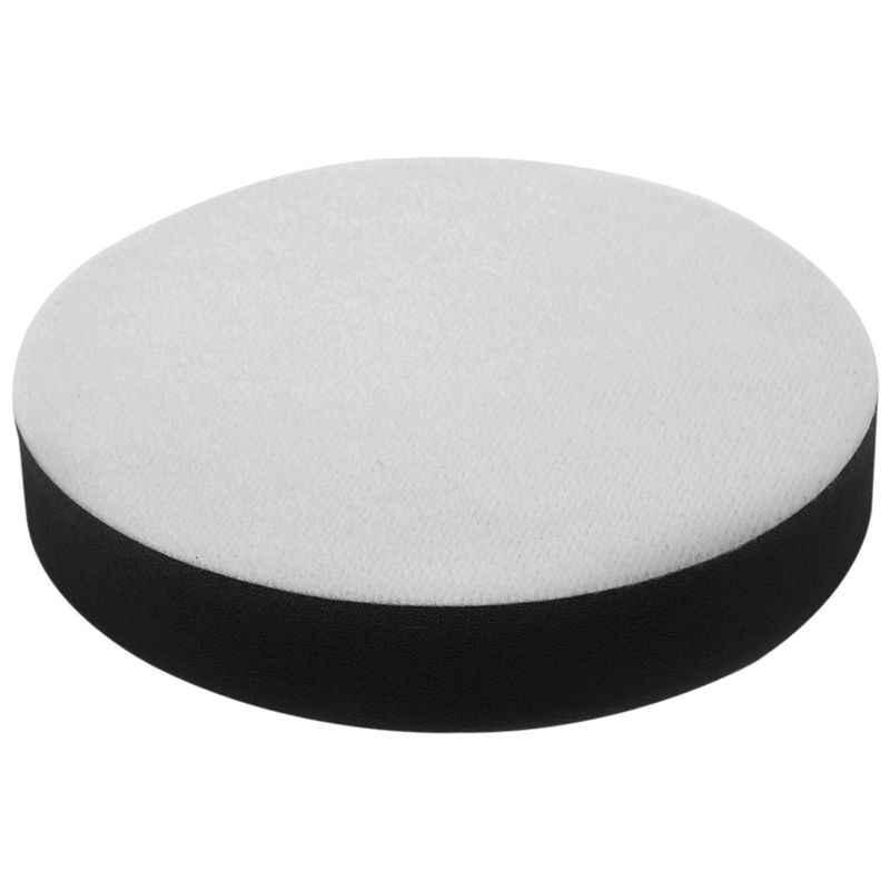 Top-6 inch 150mm Zachte Platte Spons Buffer Polijsten Pad Kit Voor Auto Polijstmachine Kleur: Zwart