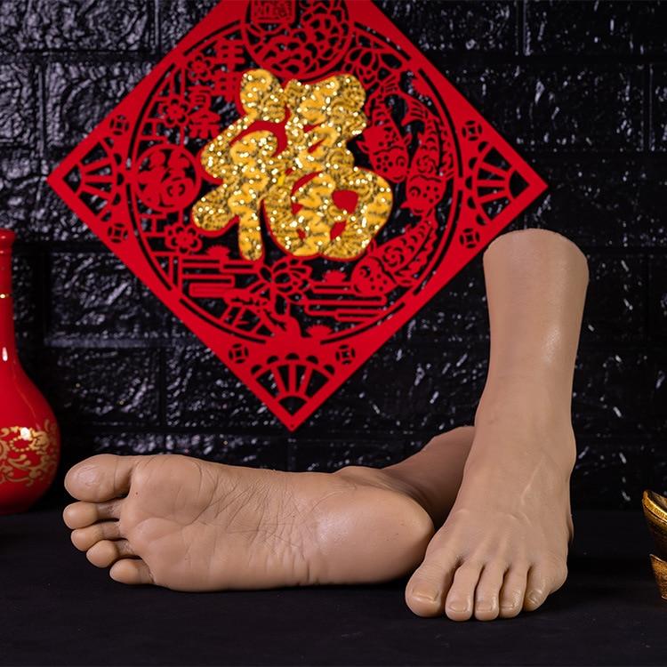 Simulation mâle pied modèle réel inversé pied modèle tir affichage accessoires peinture médicale enseignement grande taille mâle pieds - 2