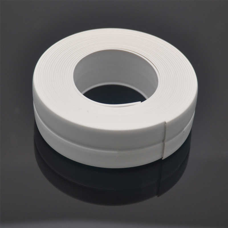 1 Roll Mandi PVC Wall Sealing Strip Tahan Air Self Adhesive Tape Dapur Wastafel Basin Edge Sealing Tape Empat Warna Opsional 3.2 M