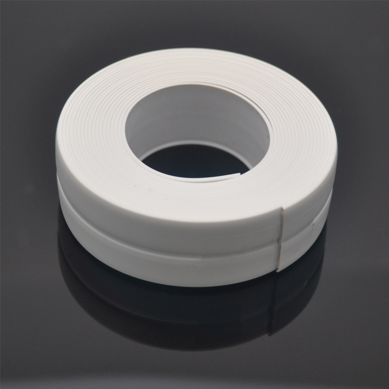 1 Roll PVC Bath Wall Sealing Strip Waterproof Self Adhesive Tape Kitchen Sink Basin Edge Sealing Tape Four Colors Optional 3.2m