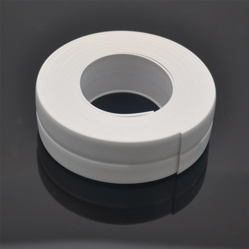 1 Roll PVC Bath Wall Sealing Strip Waterproof Self Adhesive Tape Kitchen Sink Basin Edge Sealing Tape Four Colors Optional 3.2m