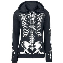 halloween skull hoodies oversized hoodie festival clothing vintage print horror women 2019 sweatshirt korean