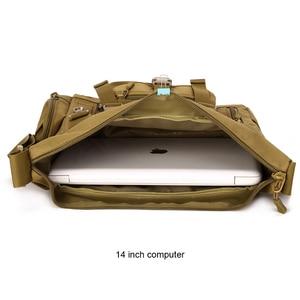 Image 5 - Тактическая Сумка слинг через плечо для мужчин, водонепроницаемая Спортивная Военная уличная дорожная сумка мессенджер Molle для ноутбука 14 дюймов