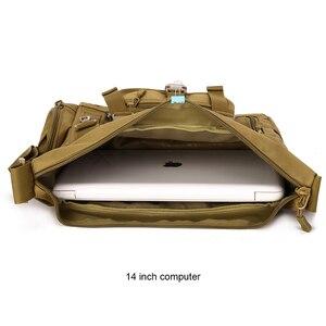 Image 5 - טקטי קלע כתף תיק גברים של עמיד למים ספורט צבאי Crossbody תיק חיצוני נסיעות Molle שליח תיק עבור 14 מחשב נייד