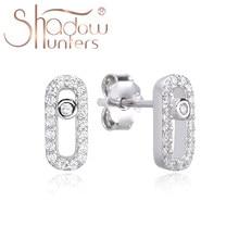 Mini boucles d'oreilles ovales en argent Sterling 925 pur pour femmes, bijoux fins en zircon cubique de haute qualité