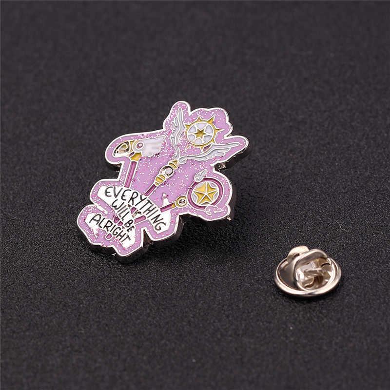 Cardcaptor Sakura Sealing Staff Pin  Brooch