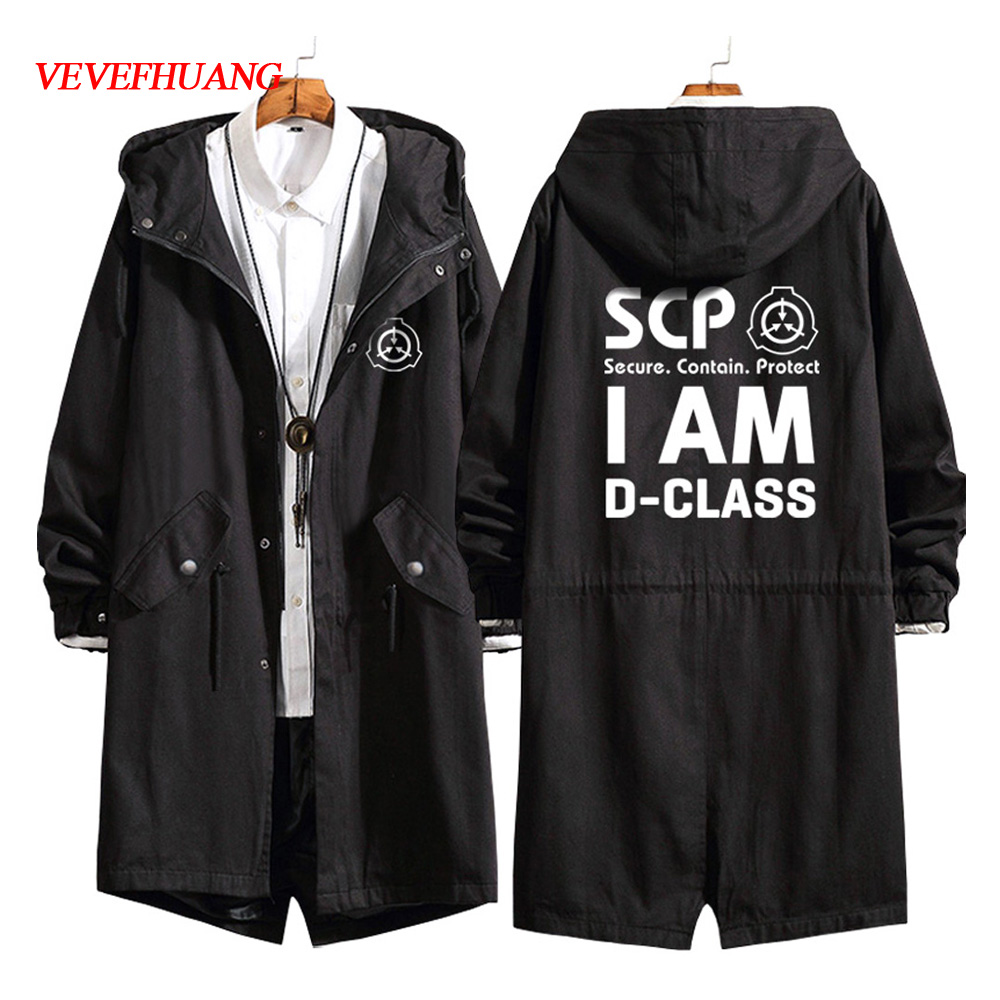 VEVEFHUANG Men Women For Anime SCP Foundation Design Cosplay Costumes Cotton Men Women Trench Jackets Warm Hoodies Coat Top