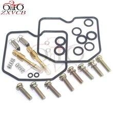 2set for EN450 454 LTD 1985-1990 EN500 1990-1994 EN 450 500 Motorcycle carburetor repair kit floating needle gasket