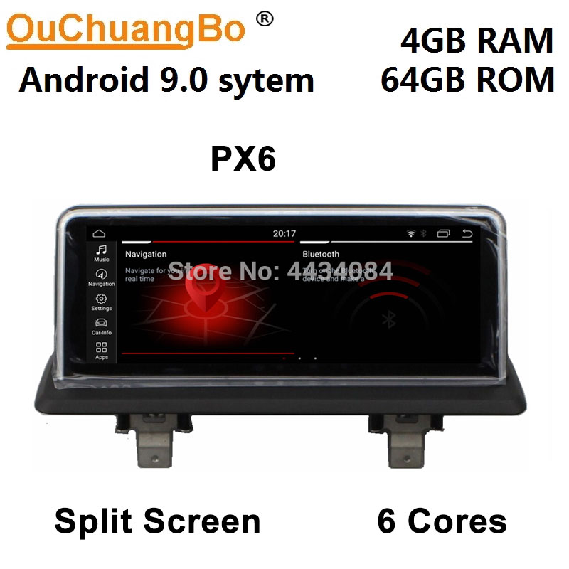 Ouchuangbo 10.25 inch car gps navi for <font><b>BMW</b></font> <font><b>E87</b></font> 2005-2012 CIC support 6 core anti-reflection screen <font><b>android</b></font> <font><b>9.0</b></font> OS image