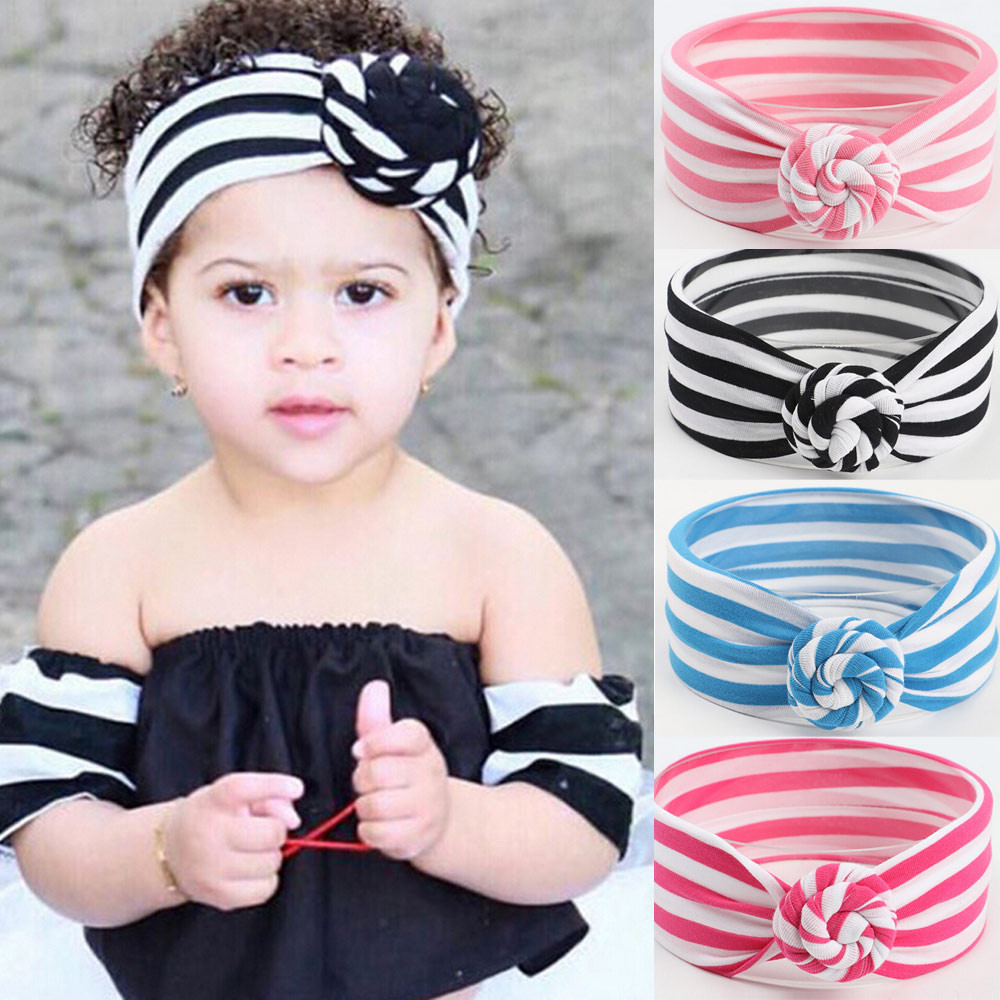 TELOTUNY New Baby Headband Baby Hair Accessories Baby Striped Knotted Hair Band Baby Girl Headbands Baby Headband Turban Baby