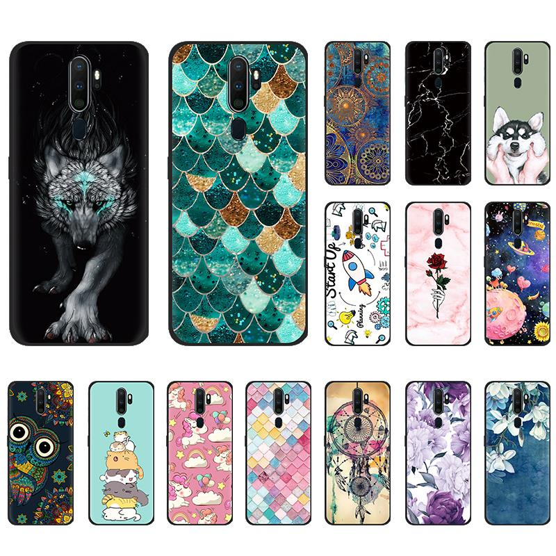 Anti-knock Back Phone Cover For <font><b>OPPO</b></font> <font><b>A9</b></font> <font><b>2020</b></font>/A11/<font><b>A5</b></font> <font><b>2020</b></font> Colorful Phone Cover Painted TPU Design back Fashionable Silicone image