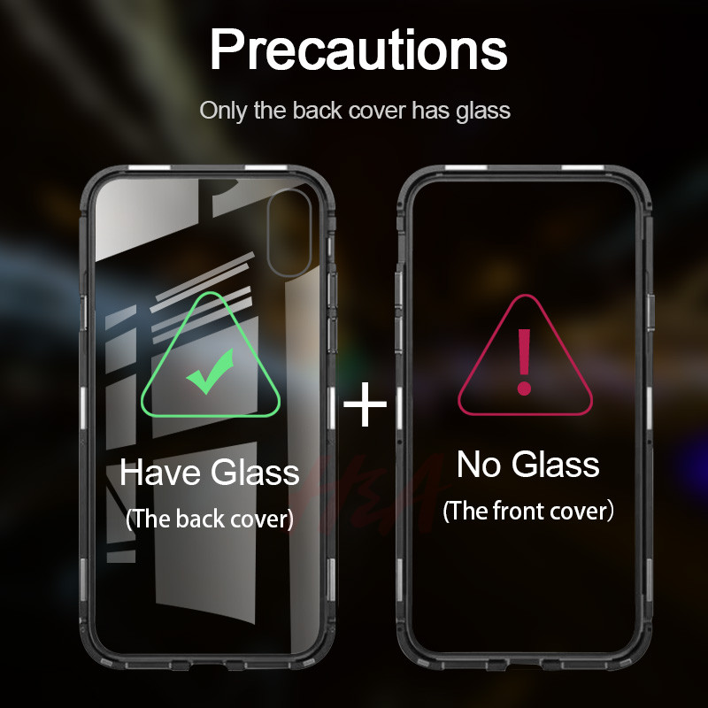 Image 2 - Metal Magnetic Adsorption Case For Redmi Note 7 6 5 Pro 6 6a Glass Case For Xiaomi 9 8 Lite 6X A2 Case Pocophone F1 Cover Case-in Phone Bumpers from Cellphones & Telecommunications