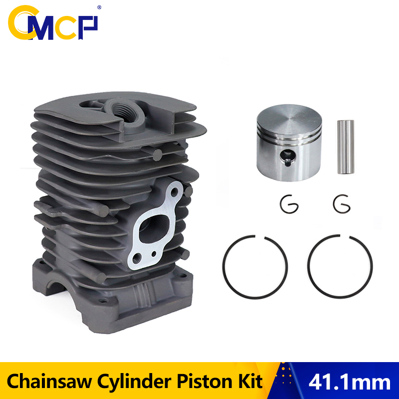 CMCP Diameter 41 1mm Chainsaw Cylinder And Piston Set Fit For Partner350 Partner351 Garden Gas Chainsaw Engine
