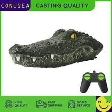 CONUSEA RC Boat Simulation Crocodile Head 2.4G Remote Control Joke Alligator Decoy Electric Toys Summer Water  Spoof Toys gift