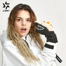 LDSKI Plush Ski Mittens ELF Series ski gloves Snowboard Gloves knitting cuffs slim-fitted light weight waterproof ski gloves
