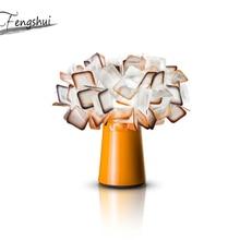 Postmodern LED Petal Table Lamp Lighting Fixtures Nordic Living Room Coffee Decor Desk Lamp Bedroom Bedside Study Reading Lights modern round led desk lamp magnifier table lights reading lamp for living room bedroom bedside study home light fixtures decor