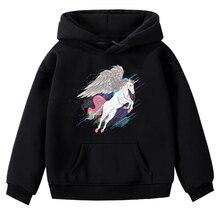 Kids Boys Girls Unicorn Print Sweatshirt Hoodies