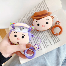 Cartoon Woody Buzz Wireless Bluetooth Earphone Case For Apple AirPods 2 Silicone Headphones Cases Air pod 1 Protective Cover