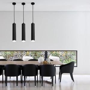 Image 3 - Luminária led ilha de cozinha, sala de jantar, bar, balcão de decoração, cilindro, lâmpadas penduradas, luminária downlight AC85 265V