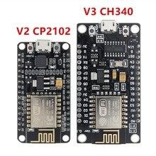 10 adet kablosuz modülü CH340/CP2102 NodeMcu V3 V2 Lua WIFI şeylerin Internet kalkınma kurulu tabanlı ESP8266 ile pcb anten