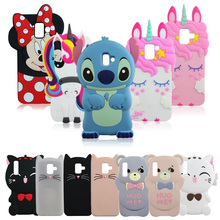 3D Silicon Unicorn Stitch Cat Bear Cartoon Soft Phone Case Cover for S