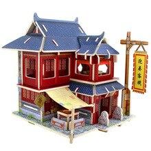 Robotime 3D головоломки деревянная кабина вилла собранная модель детей и взрослых Развивающие игрушки подарок