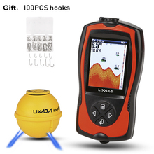 Lucky FF916 Sounder Sonar Wireless WIFI Fish Finder 50M/130ft Sea Fish Detect Finder For IOS Android Wi-Fi Fishfinder Car Charge