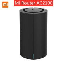 Xiaomi mi ルータ AC2100 デュアル周波数無線 lan 128 メガバイト 2.4 ghz 5 2.4ghz 360 ° カバレッジデュアルコア cpu ゲームリモート app コントロールため mihome